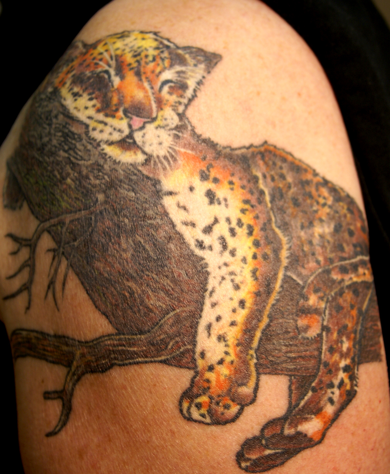 leopard tattoo pictures to pin on pinterest tattooskid. Black Bedroom Furniture Sets. Home Design Ideas
