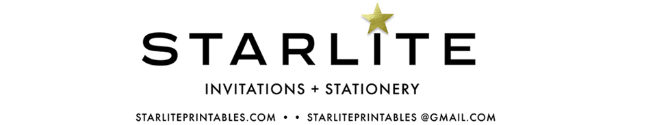Starlite Printables Invitations + Stationery