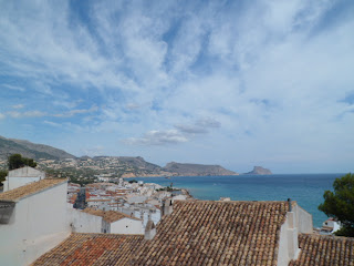 Views out to the sea in Altea, Spain