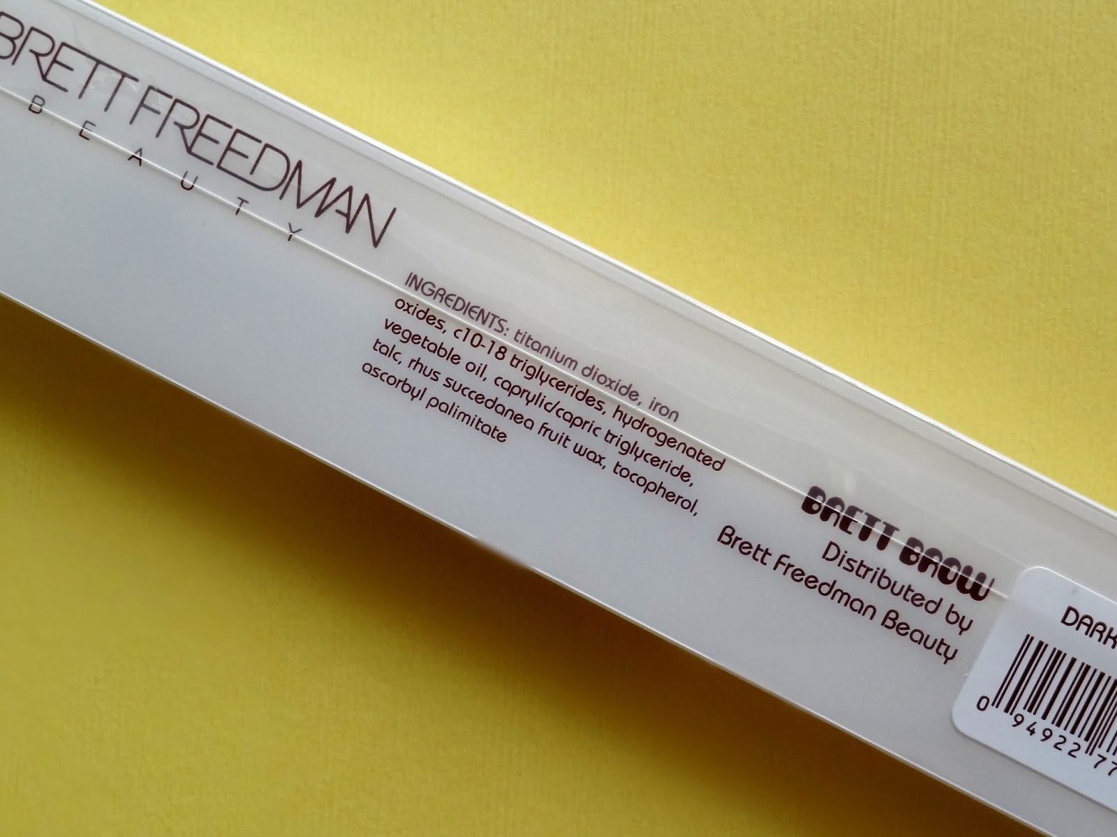 Brett Freedman Beauty Brett Brow Duo-Shade Pencil in Dark Brunette Ingredients