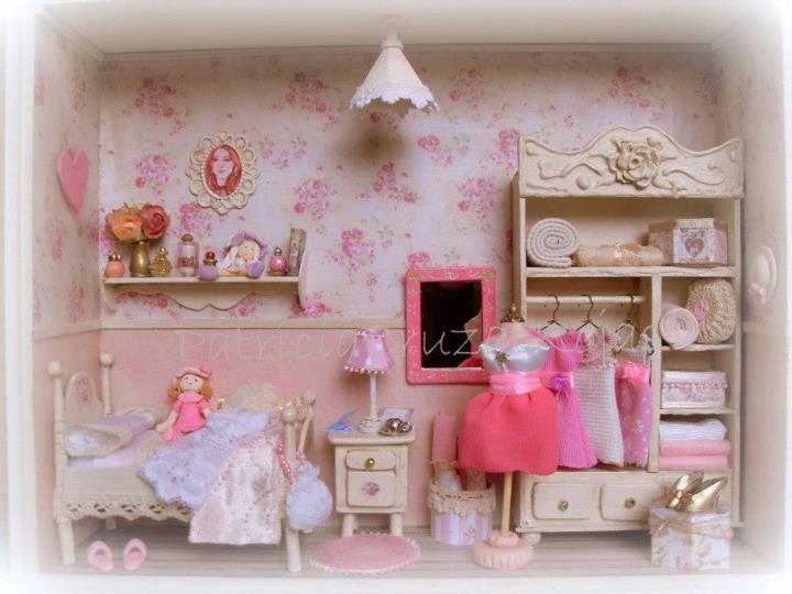 Patricia cruzat artesania y color dormitorio rosa for Dormitorio rosa