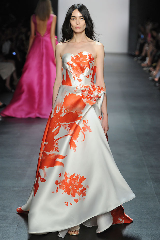 Angel Sanchez Spring 2016 printed floral Ball Gown