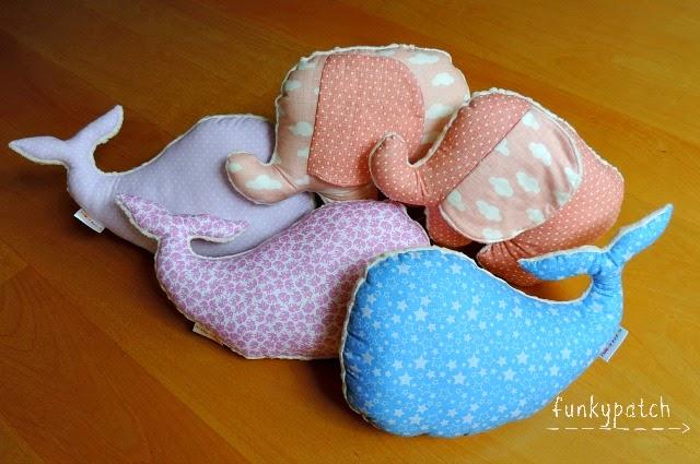 Peluches/cojines con forma de animales, hechos a manos, muy suaves y coloridos