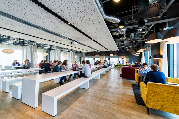 Modern restaurant in Google office in Dublin