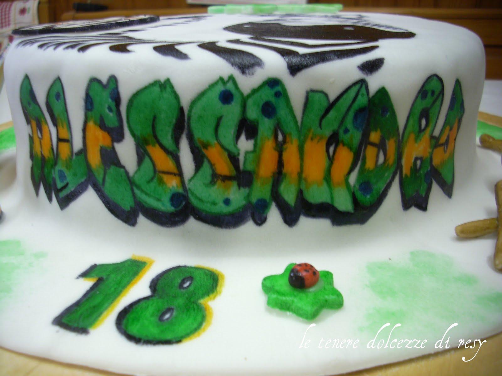 Le tenere dolcezze di resy 18 anni di alessandro con for Torte 18 anni ragazzo