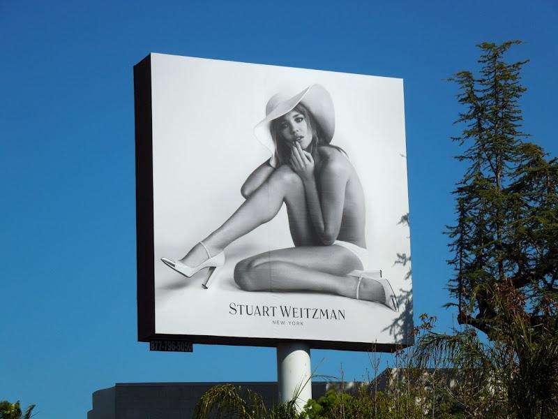 Stuart Weitzman shoes billboard