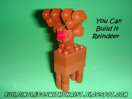 Building Legos With Christ You Can Build It Reindeer