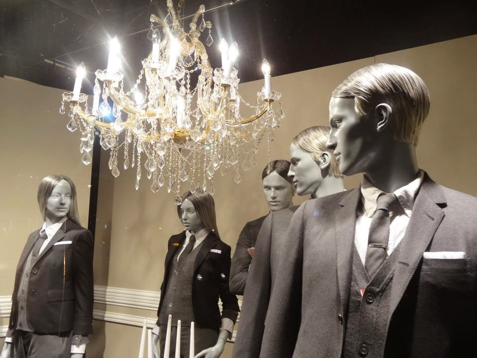 Selfridges Shop Window 2014 jul-aug Thom Browne - Master of Showmanship