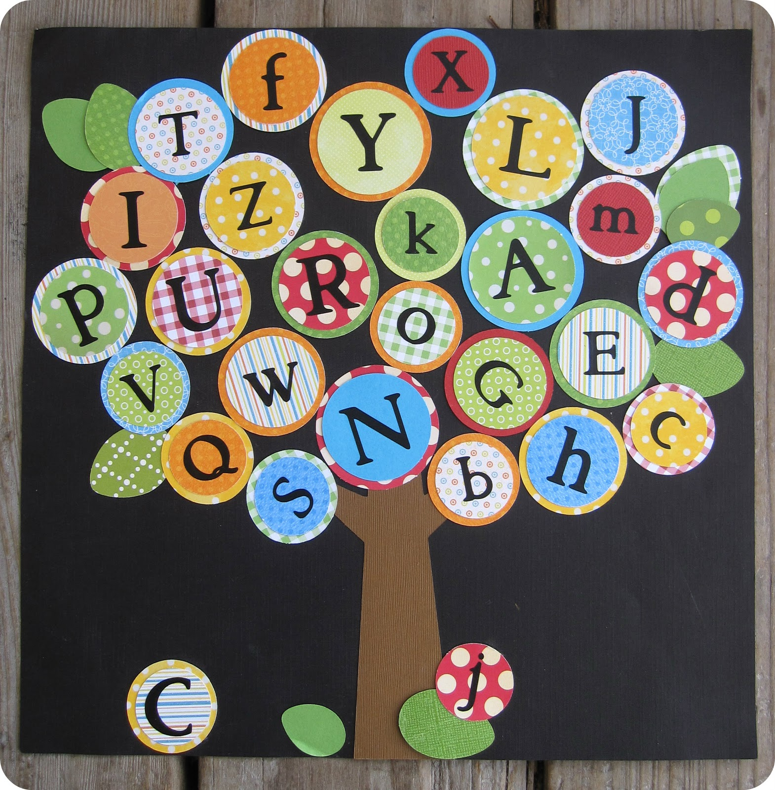 Blissful roots abc tree for Art and craft for classroom decoration