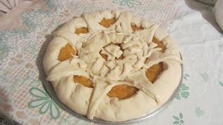 дрожжевой пирог с курагой на расстойке