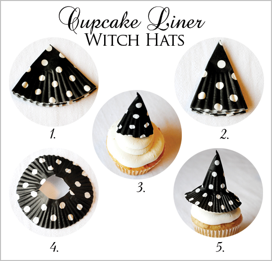 Halloween Cupcakes Witches Hats Halloween Witch Hat Cupcake