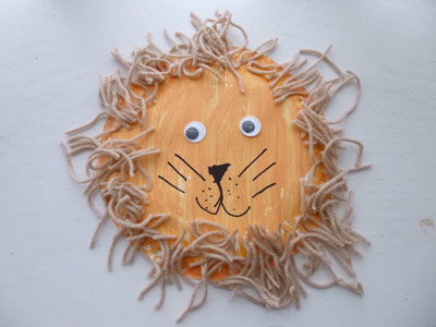 Directions Paint entire plate; when dry glue on  hair  paper googly eyes u0026 pompom. Draw on the rest of the face. & Save Green Being Green: Paper Plate Lion Crafts - 3 Versions