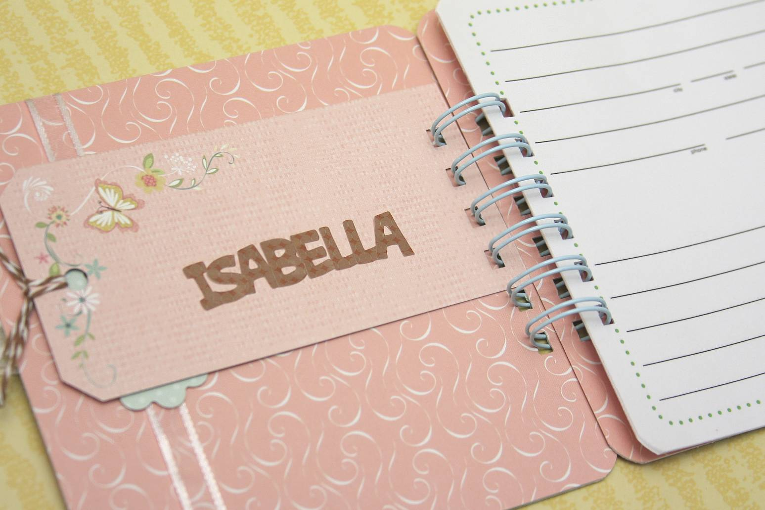 an address book for isabella
