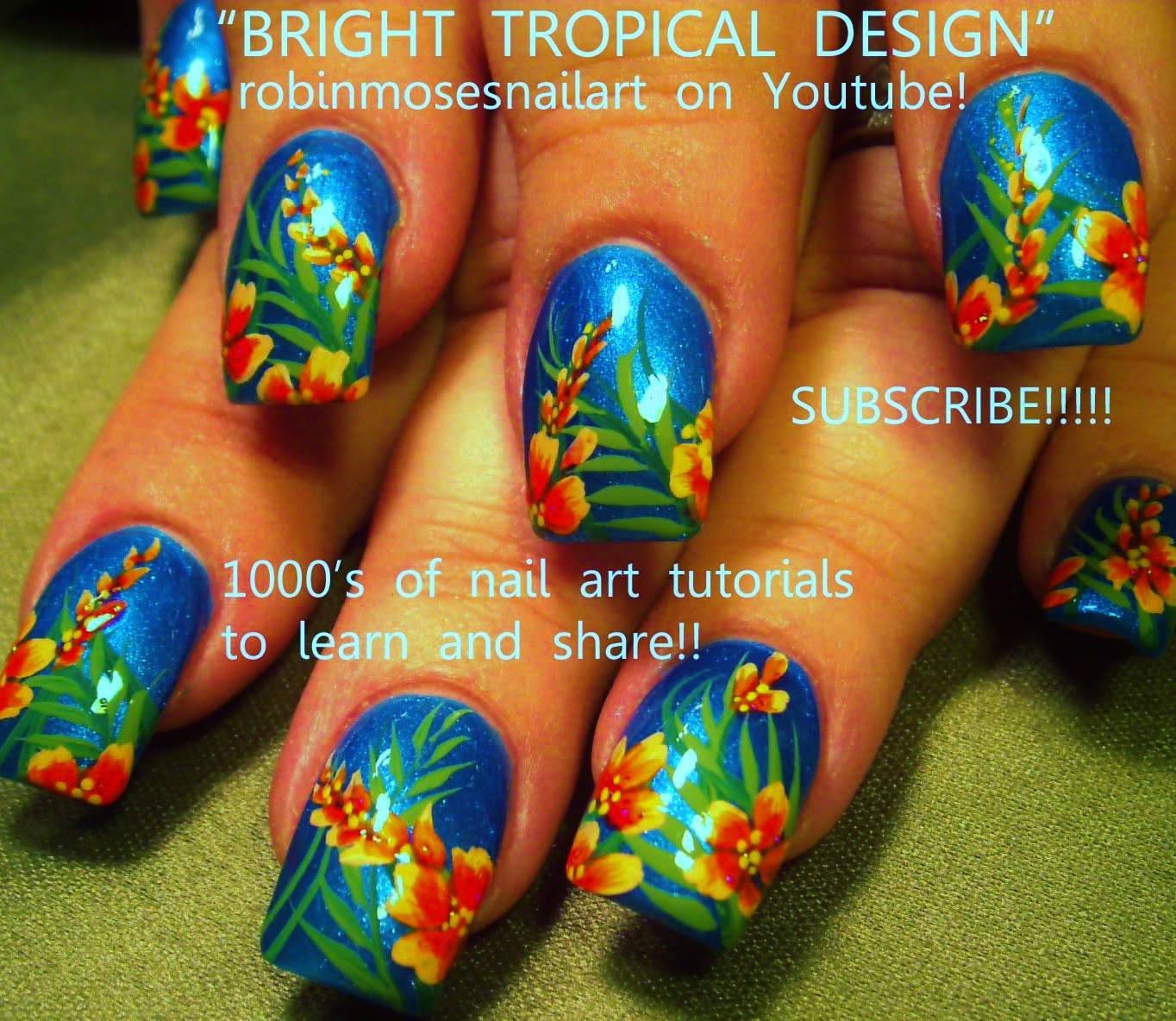 "Robin Moses Nail Art Designs: Robin Moses Nail Art: ""tropical Nails"" ""nail Art"