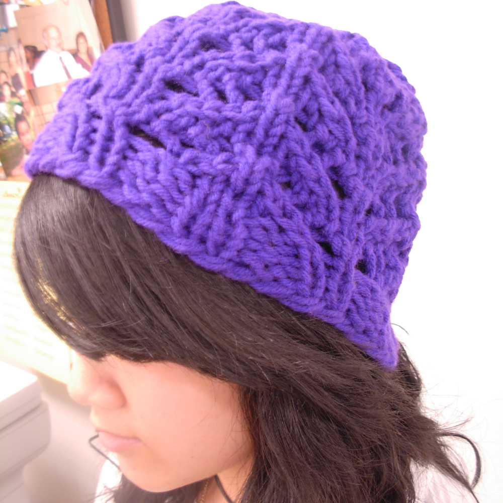 Lace Loom Knitting Patterns : The Casual Loom Knitter: Stitch guide open AND Lace hat preview - patterns co...