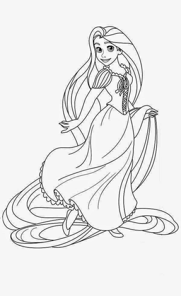 Tangled Rapunzel coloring.filminspector.com
