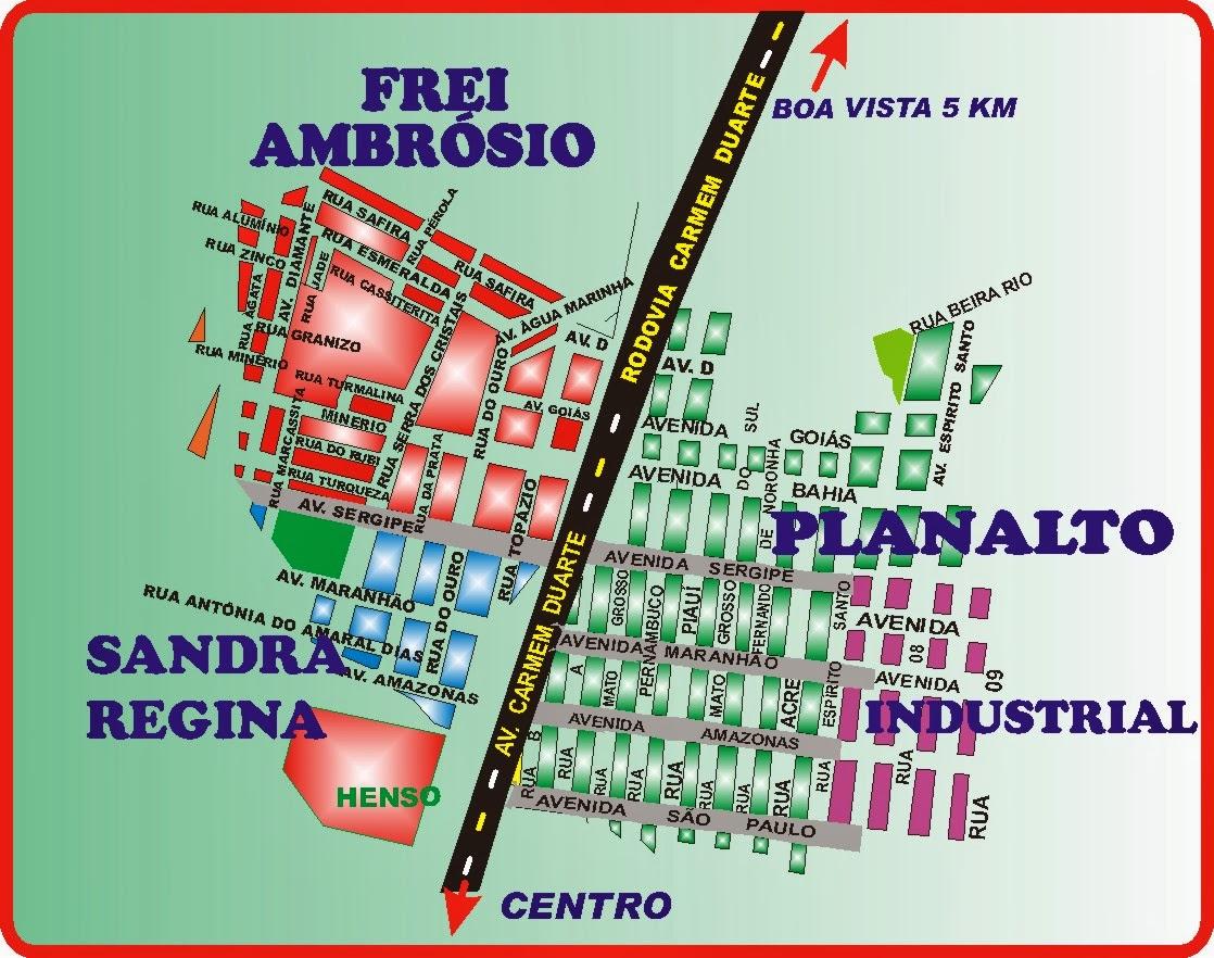 Mapa do Bairro Planalto e Adjacências
