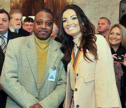 Jornalista- Nelson Silva e sua Colega a Jornalista Patricia Poeta da Rede Globo.