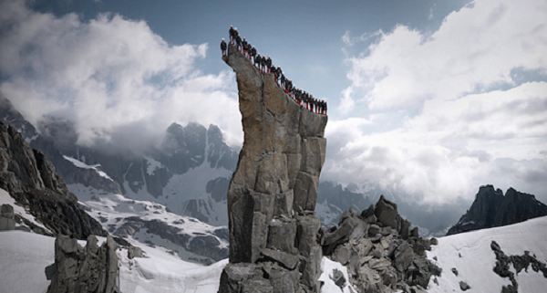 Wow. - Not Only Did These People Climb The Alps, They Did Something So Cool Up There.