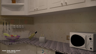 Poyo perimetral de la cocina