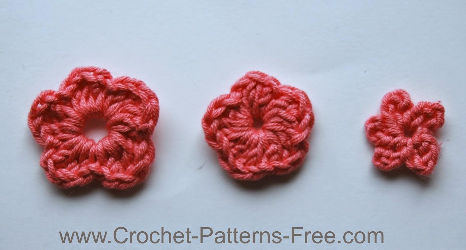 Small Crochet Flower Patterns Free Crochet Patterns free crochet flower patterns