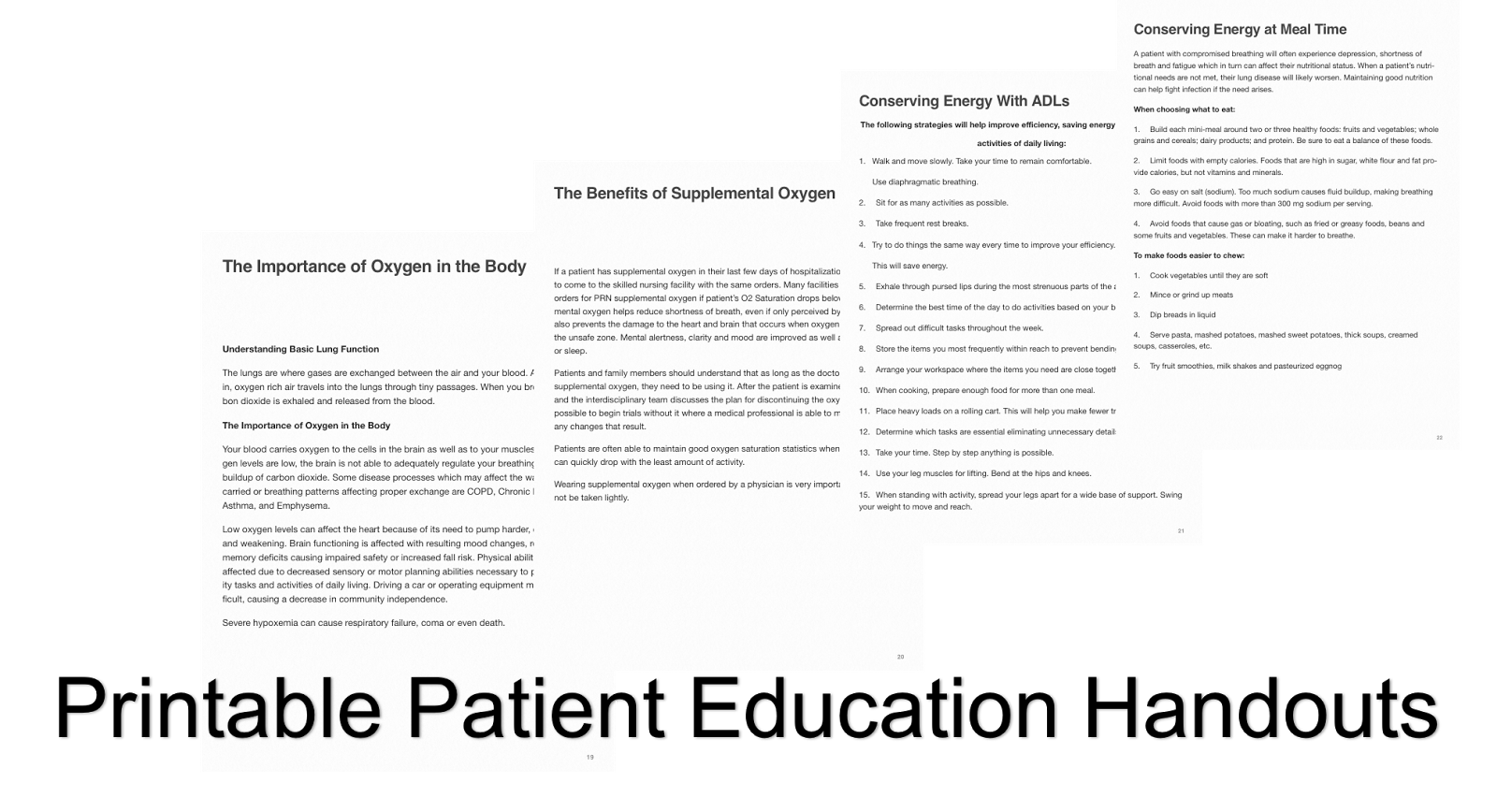 Revered image within free printable patient education handouts