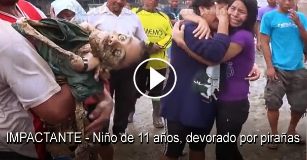 VIDEO IMPACTANTE - Niño de 11 años fue devorado por pirañas