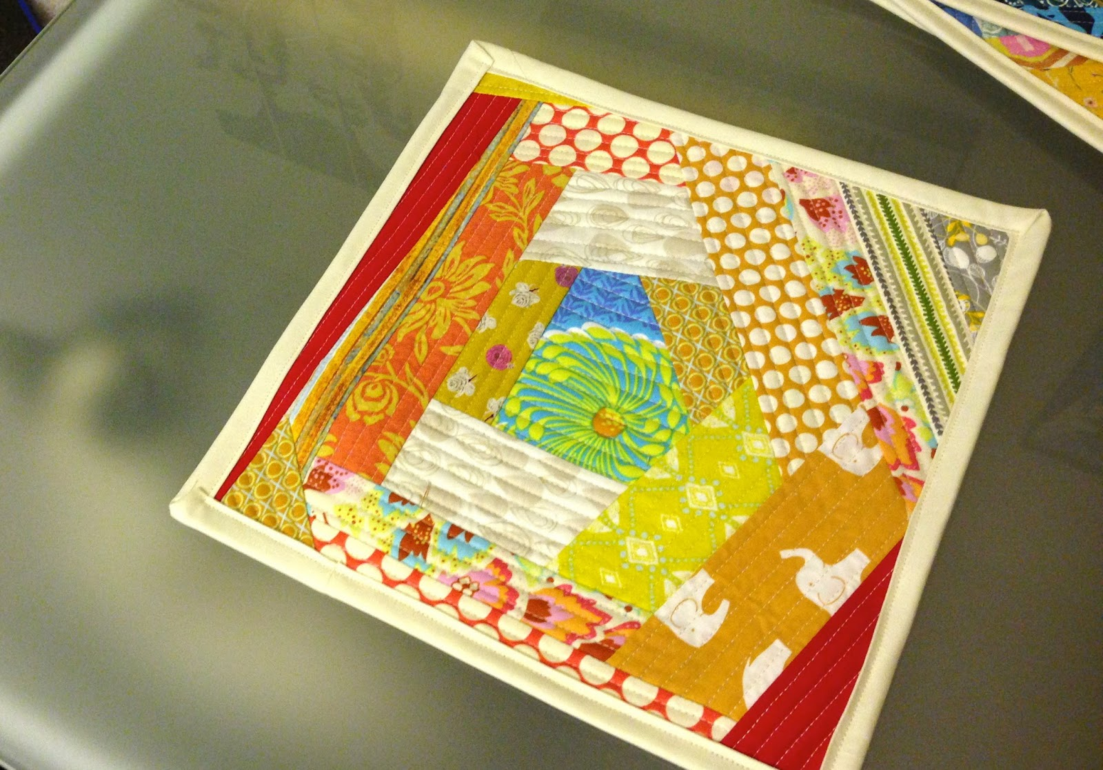 Issabella The Cat Quilt As You Go Placemats
