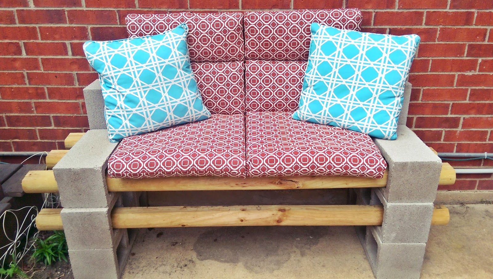 made creations cinder block bench do it yourself outdoor seating