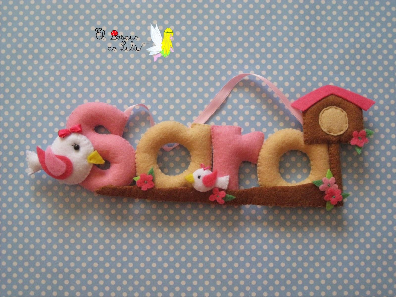 nombre-decorativo-fieltro-Sara-infantil-regalo-nacimiento-personalizado