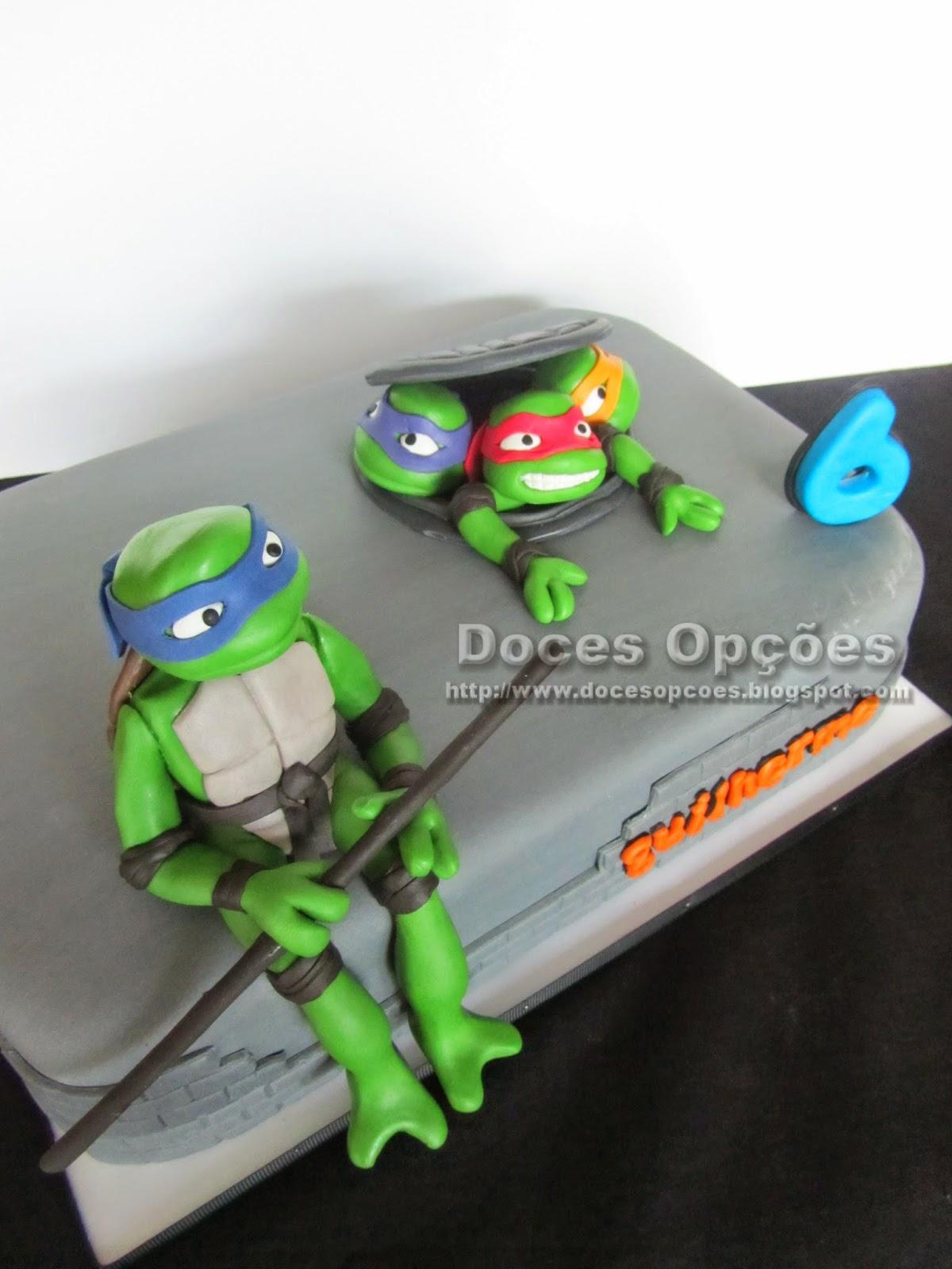 bolo aniversário tartarugas ninja