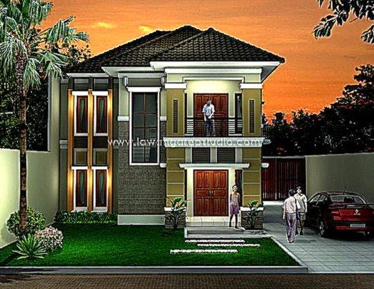 Desain Rumah Minimalis 2 Lantai Lebar 9 Meter   Gambar Desain