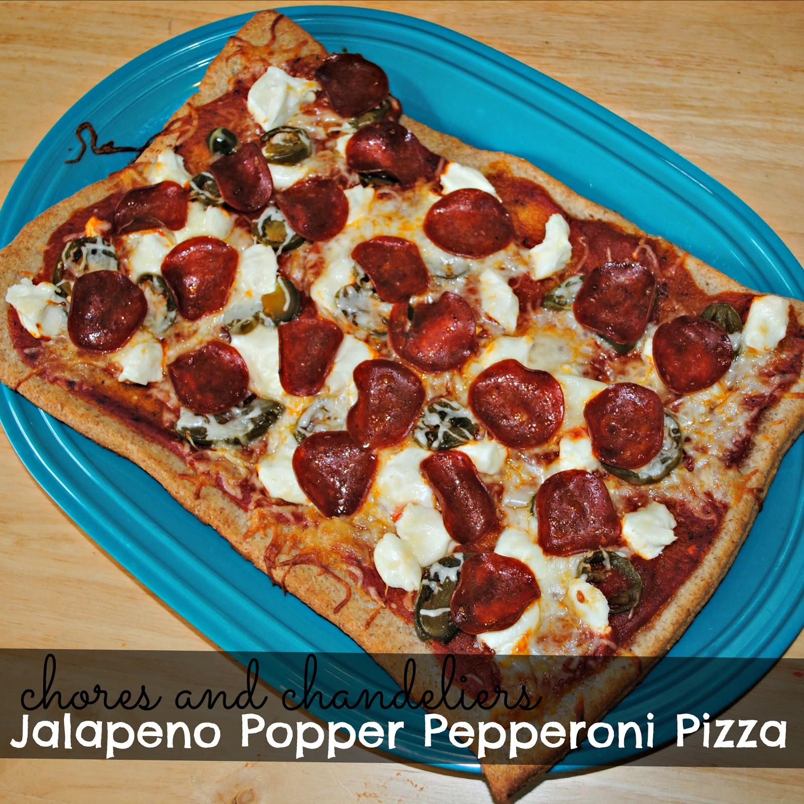 ... chandeliers: Jalapeno Popper Pepperoni Pizza {Suzi Homefaker Style