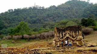 Under the Kothmale reservoir - Statute's of Lord Buddha Truly Wonderful