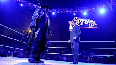 imagen de the undertaker retando a triple h para wrestlemania 28