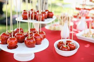 Manzanas encarameladas.