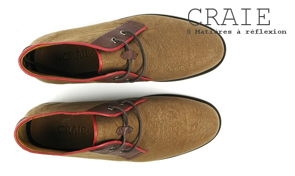 Desert boots homme enduite / cuir Craie