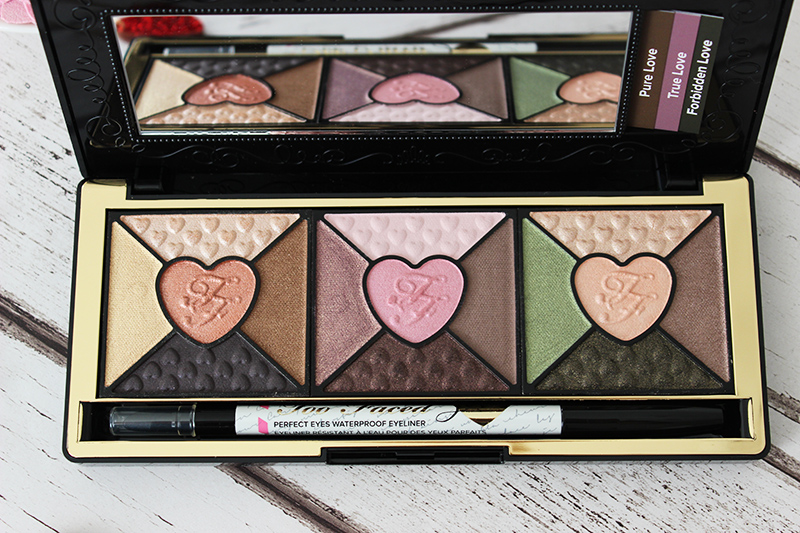 Too Faced Love palette review - palette close up