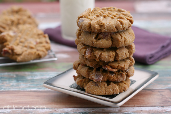Flourless Peanut Butter Bacon Cookies #BaconMonth