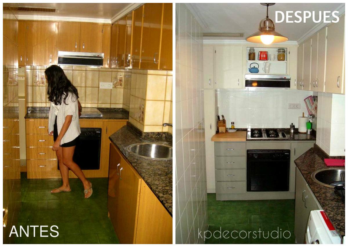 Kp decor studio reformar el ba o con pintura de azulejos - Reformar cocina pequena ...
