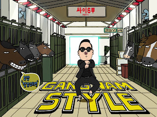 Psy Gangnam Style Illustration Cover HD Wallpaper