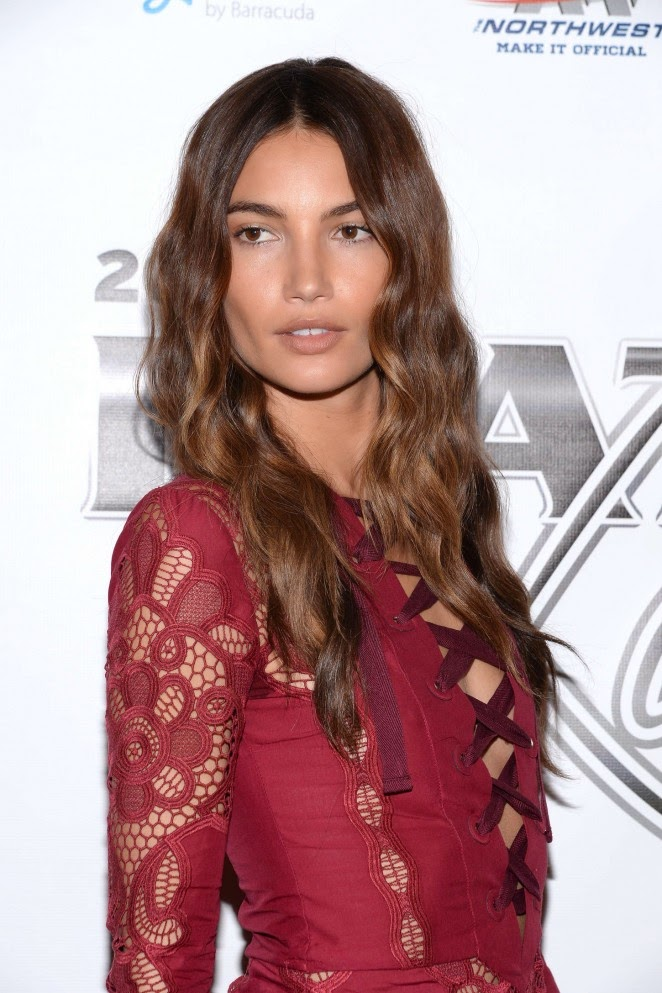 Lily Aldridge – 12th Annual Leather & Laces Super Bowl XLIX Party in Phoenix