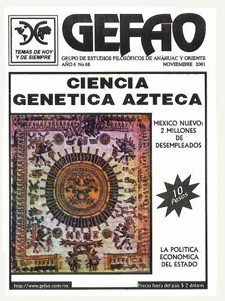 REVISTA GEFAO LA CIENCIA GENETICA AZTECA