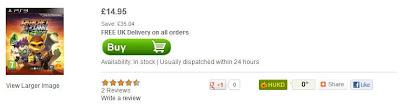 Ratchet & Clank: All for One für PS3 bei zavvi für unter 20 Euro