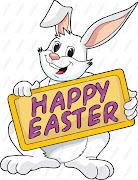 Estaremos de vacaciones hasta el lunes 1 de abril. happy easter bunny clip art