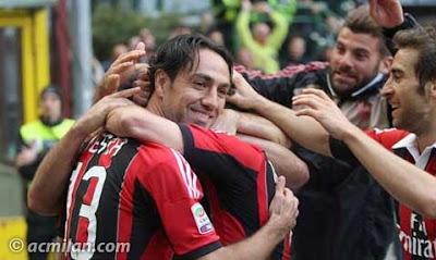 Foto  Selebrasi Gol Terakhir dan Perpisahan Inzaghi Untuk Milan