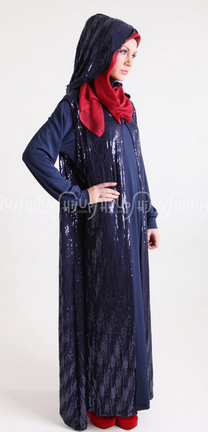 Gamis Capuchong Sequind Anemone by Hannie Hananto Rp. 500.000