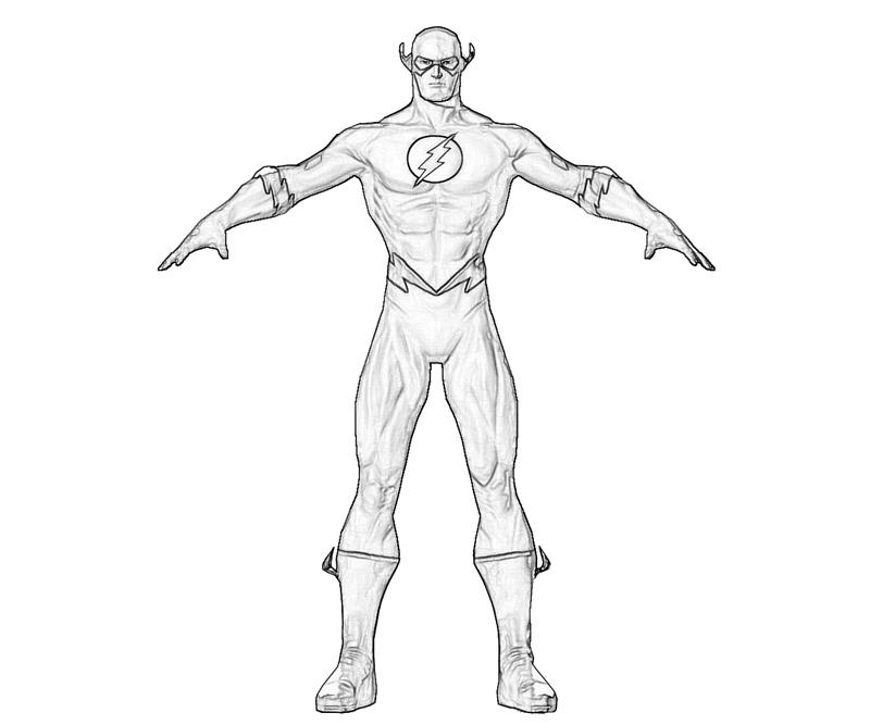 Flash Flash Profil Coloring Pages title=