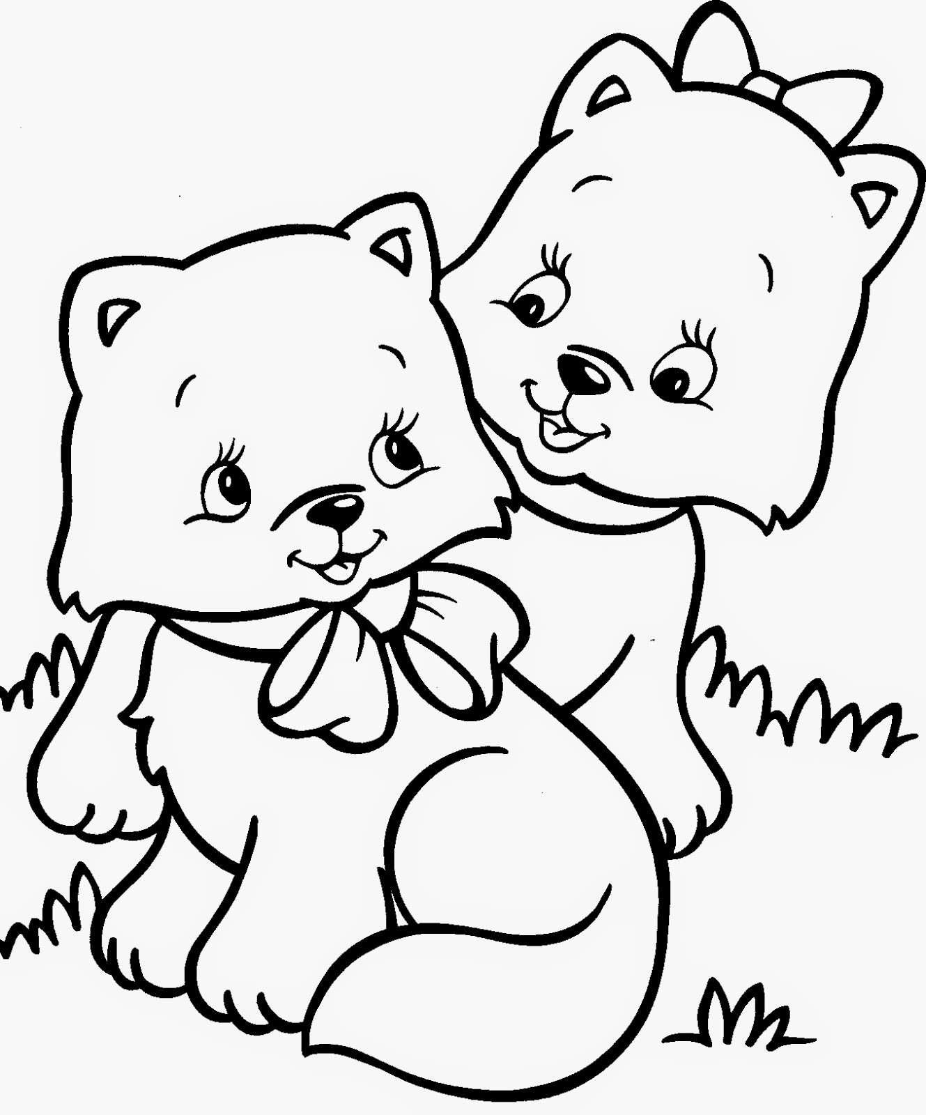 cute cats coloring pages - navishta sketch sweet cute angle cats
