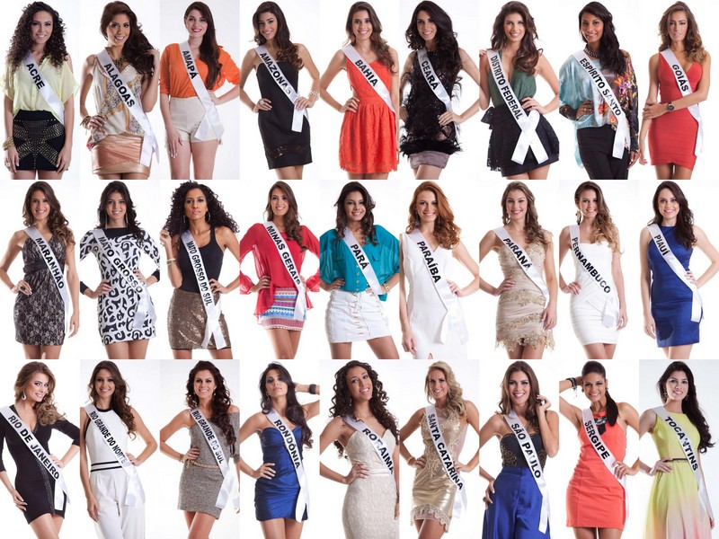 As 27 candidatas do Miss Brasil 2012